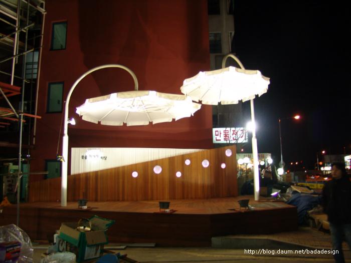 바다디자인스튜디오-못골시장 야외무대