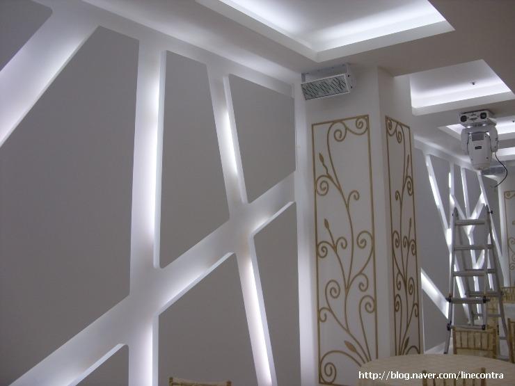 웨딩홀,예식장...콘플로아 에코도장..벽체및 천정 디자인..MDF및 ...