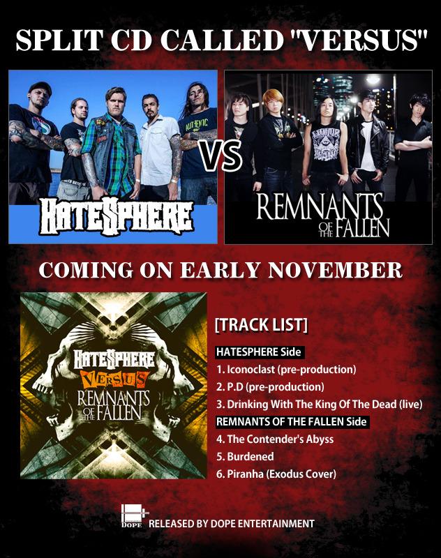 HATESPHERE vs 램넌츠 오브 더 폴른 CD OUT!