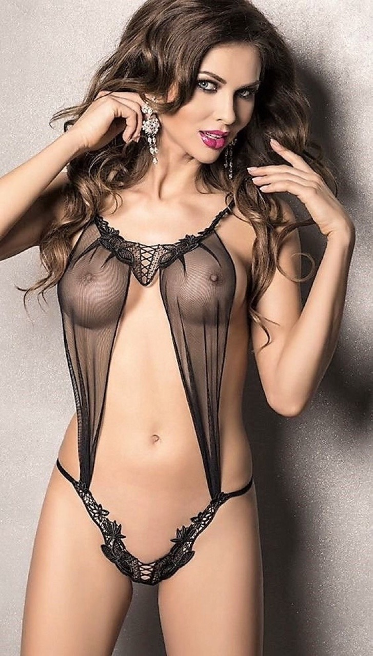 hot girl in see through lingerie