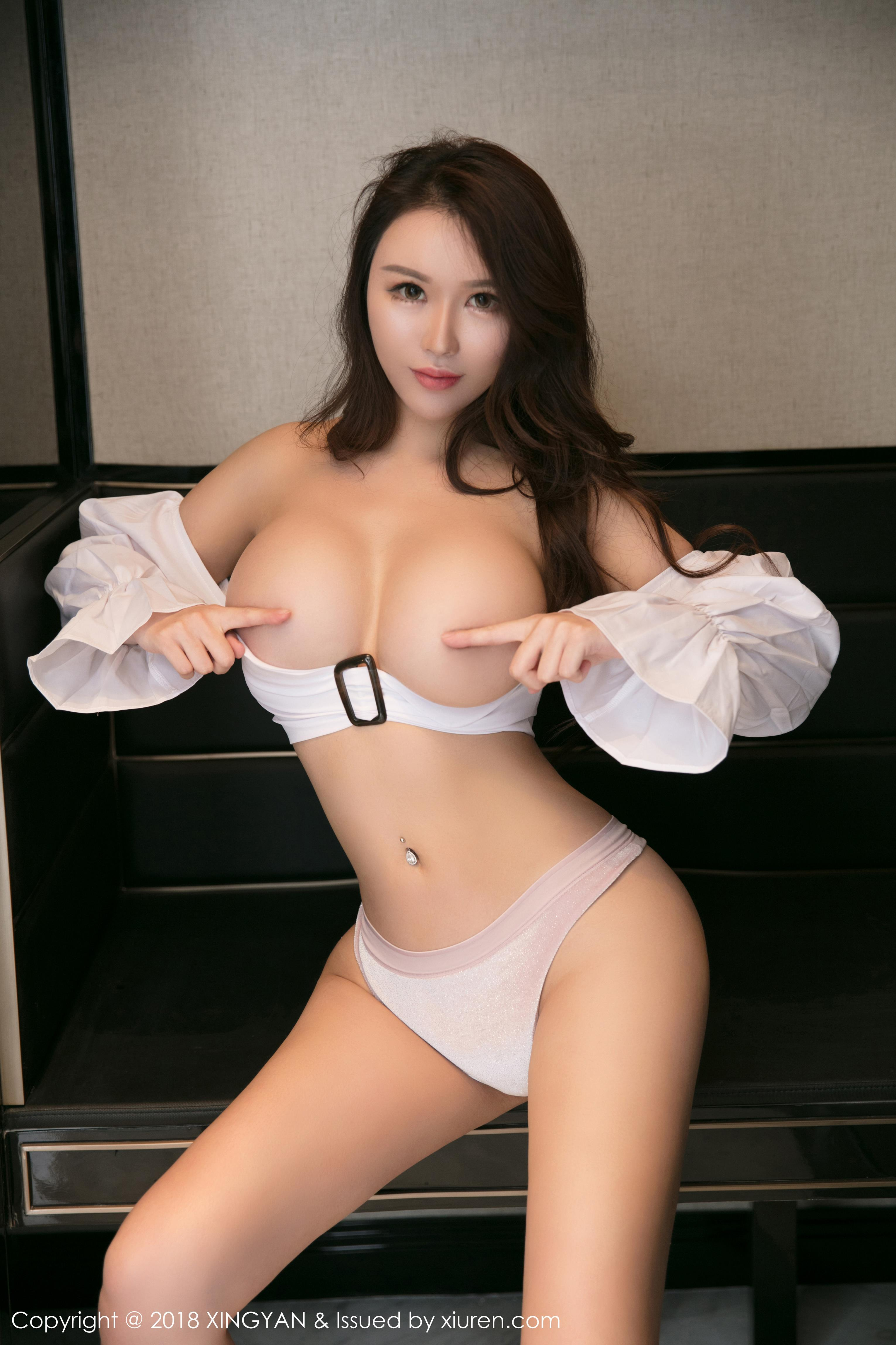 hot glamour Chinese in sexy lingerie